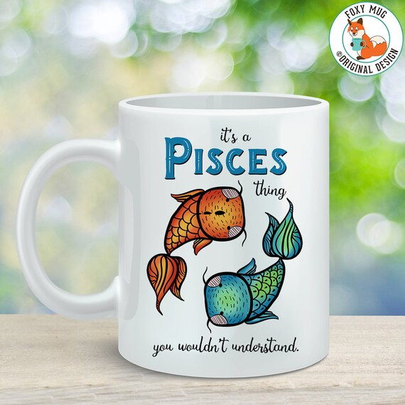Coffee Mug Pisces Astrological Sign Coffee Cup - Great Birthday Gift - Horoscope Mug