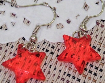 Cute Little Acrylic Star Earring