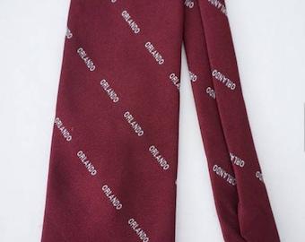 Vintage Maroon Necktie from Orlando Florida