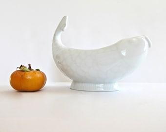 Dansk Fish Creamer France - Dansk Gravy Boat - Dansk Sauce - Porcelain Carp - Porcelain Koi - Mint condition