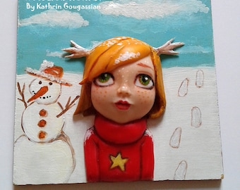 3D Wall Art- Hybrid Girl - Snowy Day.