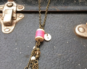 Sewing hobby necklace
