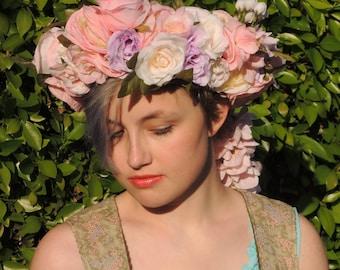Pastel Spring Deluxe Flower Crown