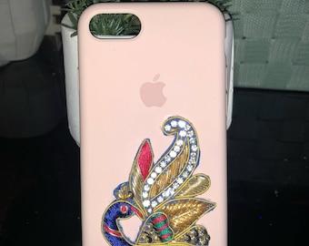 Custom authentic pink iphone 7/8 case