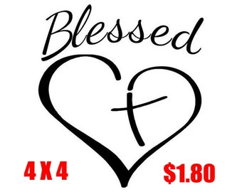 Blessed Heart Decal