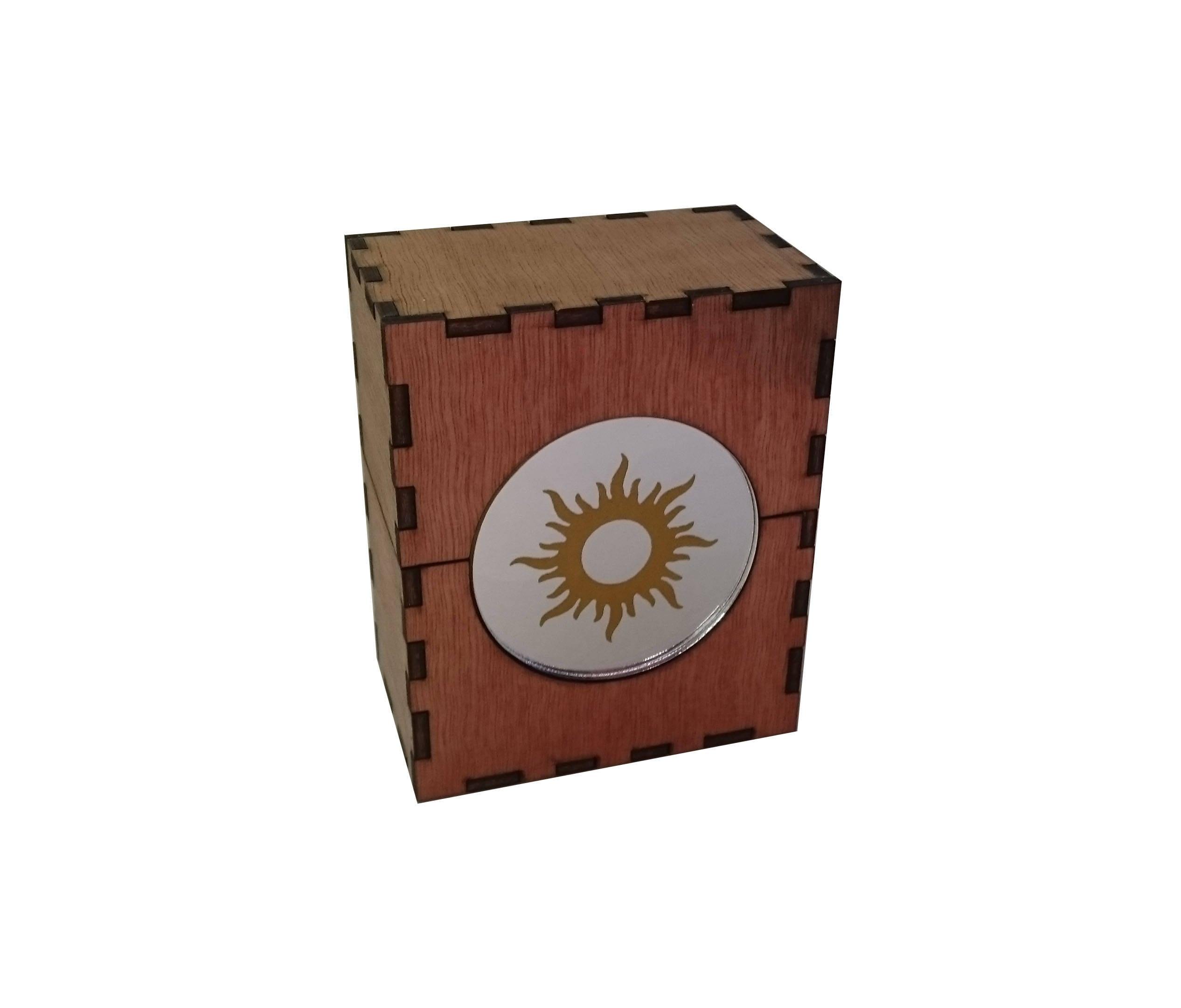 Mtg deck box with mirrored acrylic mana symbol magic the zoom biocorpaavc