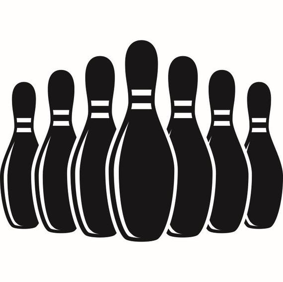 Bowling Pins #1 Setup Sports Game Logo League.SVG .EPS .PNG Instant Digital  Clipart Vector Cricut Cut Download Printable Scrapbook Graphic