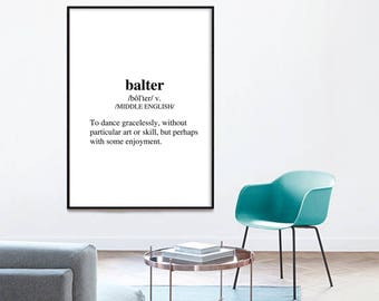 Definition Balter - Definition Baiter Digital Print Funny Wall Art Funny Art Funny Saying Home Decor Inspirational Quote Typography Wall Art
