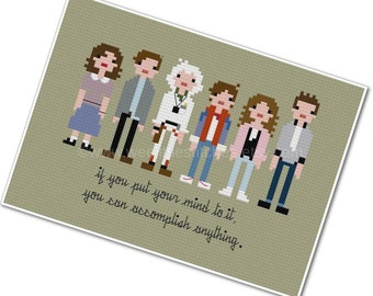 Back to the Future - The *Original* Pixel People - PDF Cross-stitch Pattern - INSTANT DOWNLOAD