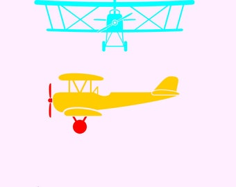 2 old planes, airplane, plane in svg, dxf, png, eps format. Instant download for Cricut and Silhouette Studio