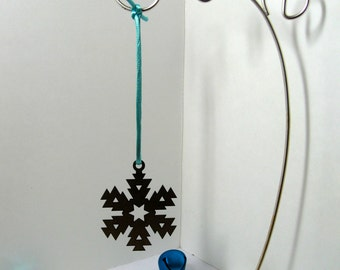 Snow Flake Ornament Metal Christmas Tree Decoration