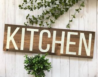 Kitchen Sign, Wood Kitchen Sign, Wooden Kitchen Sign, Kitchen Wall Art, Rustic Kitchen Sign, Rustic Kitchen Decor, Farmhouse Kitchen Sign