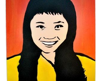 Yoro Kobi- Japanese Girl Spray Art