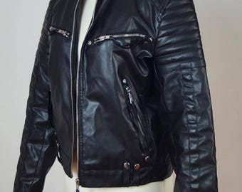 Bat Attack-jacket, gothic, imitation leather, size s