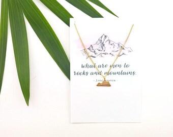 Mountain Necklace | Jane Austen Friendship Jewelry Mountain Jewelry Minimalist Friendship Necklace Best Friend Gift for her Mountain Charm