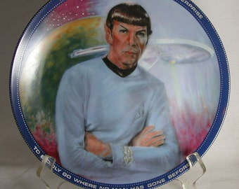 Vintage Star Trek Original Series 1983 Mr. Spock Plate with COA, Hamilton Collection By Susie Morton, Limted Edition, Paramount Pictures