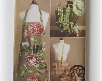 Butterick B5506 Waverly® Apron, Tote Bag, Hat, Sleeves...Out of Print!