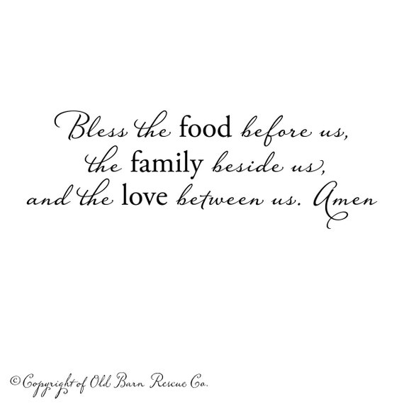 Bless The Food Before Usprayer Wall Decal