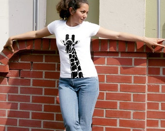 "Women's T-shirt Fair trade ""Stefanie La Girafe"""
