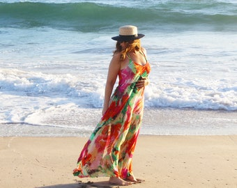 Swimsuit Cover-up, Beach Cover-ups, Swim Cover-ups    Floral Maxi Dress    Resort Dresses    Swimwear, Beachwear, Honeymoon Swim    {Luna}