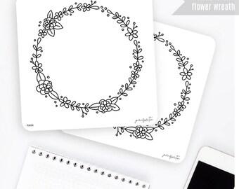 FW04 | Flower Wreath Sticker | Decorative Sticker | Planner Stickers | Bullet Journal Stickers