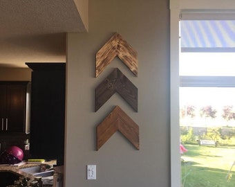 Chevron Arrows (Sold Individually) Rustic Modern Farmhouse, Woodland Nursery, Wooden Country Home Decor, Boho Shabby Chic Wall Art Hanging