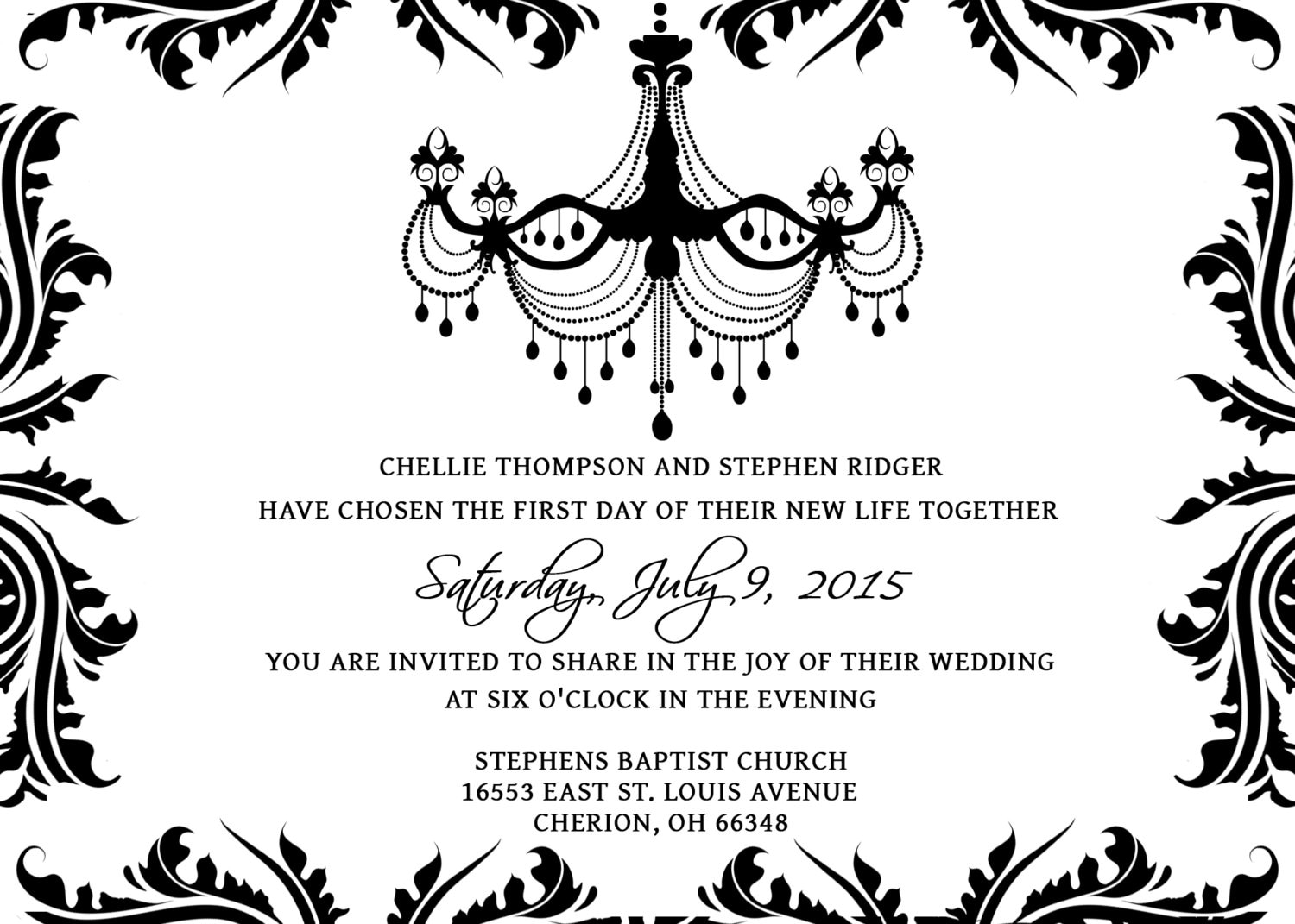 Wedding Invitations Template Set PSD Photoshop Gimp