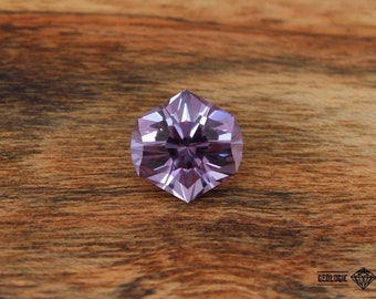 Precision cut 6.8 ct color changing Flame Fusion Sapphire