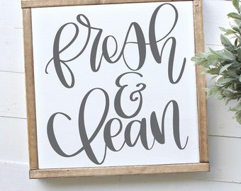 Fresh & Clean - Hand Lettered SVG