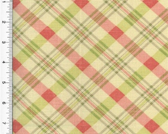Waverly Chit Chat Plaid Print Pink Home Decorating, Fabric By The Yard