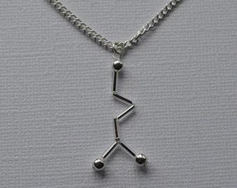 Biolojewelry - GABA Neurotransmitter Molecule Necklace