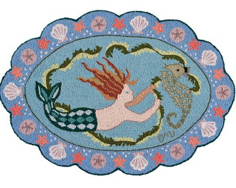 Claire Murray Sea Nymph Rug Hooking Kit