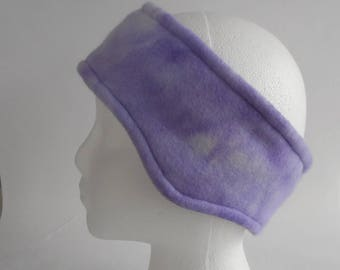 Light Lavender Tie Dyed Fleece Ear Warmer / Earband