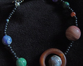 Solar System Bead Bracelet