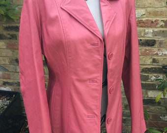 Centigrade vintage pink leather jacket Size Medium Excellent Condition