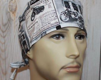 Motorcycles,Men's Surgical Scrub Cap