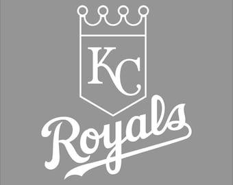 Kansas City Royals White Vinyl Decal