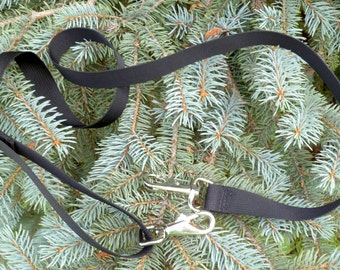 """Removable adjustable shoulder strap, replacement strap, 1"""" wide, heavy silver clips, black nylon, Extra Long,  not for my bags"""
