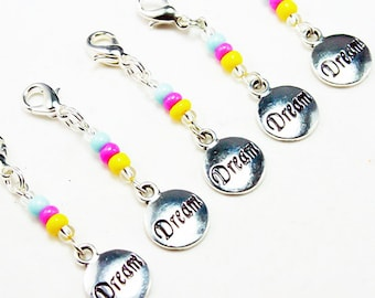 Sale Clearance - Dream Charm. Beaded Live Your Dreams Charm. Party Favour Charm for Birthdays. BSC041