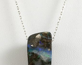 Opal Pendant on Sterling Silver Chain