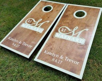 Painted Custom Personalized Wedding Cornhole Boards