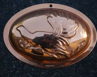 Copper grouse, bird Vintage Mold, Copper Kitchen Decor, Wall Decor, Copper wall Hanging,  baking form, Sweden