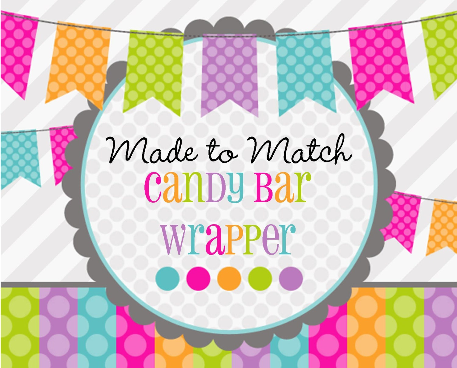 Made 2 Match: Printable Candy Bar Wrapper Birthday Favors