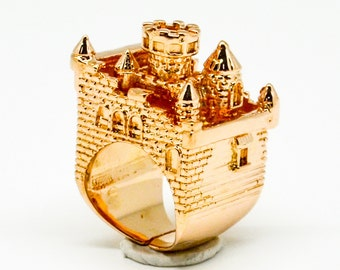 Rose Gold Castle Ring