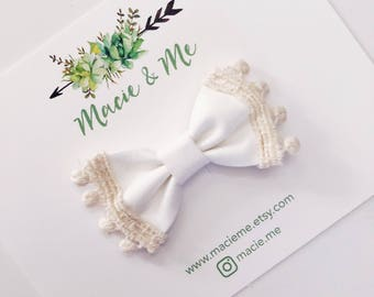 White Trimmed Bow