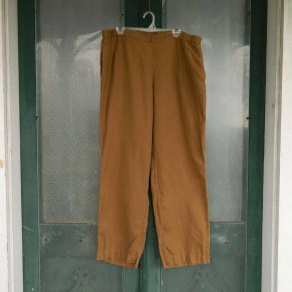 J. Jill Straight Pants -XL- Gold Linen