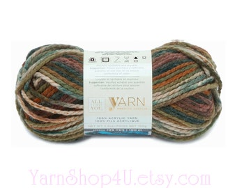 DEEP WOODS Ombre Bulky Yarn. All Things You Premium. Bulky Yarn. Earthy Forest Colors. Soft Variegated. Same as Charisma Deep Woods √6998