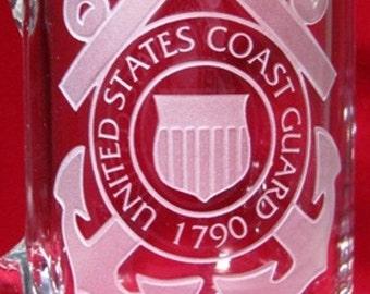 Personalized Sport Mug~ Custom Engraved Sport Mug~ Coast Guard Sport Mug~Retirement Sport Mug~ Handcrafted Mug