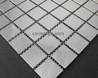 Mosaic mirror 30 Regular stainless steel