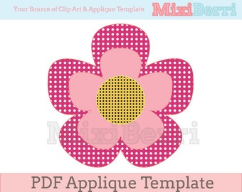 Flower Applique Template PDF Instant Download